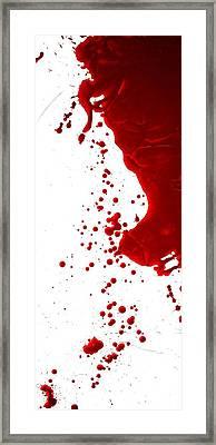 Blood Splatter  Framed Print by Holly Anderson