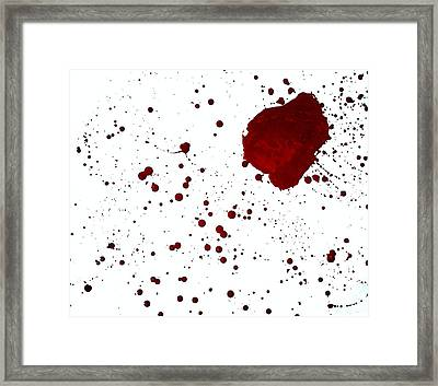 blood splatter PANCHAKARMA Framed Print