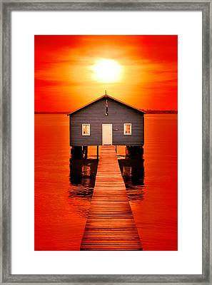 Blood Sunset Framed Print