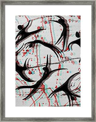 Blood Sweat And Tears  Framed Print by Kiara Reynolds