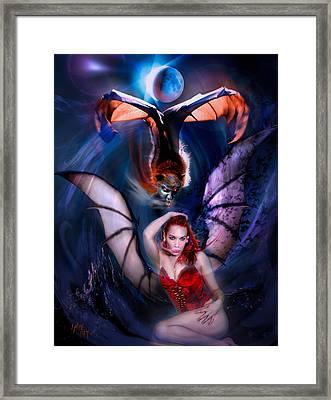 Blood Wings Framed Print