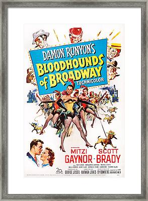 Bloodhounds Of Broadway, Us Poster Framed Print by Everett