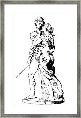 Bloodletting Sites, Adonis And Venus Framed Print by Science Source