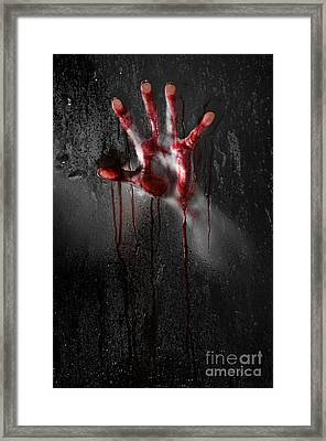 Bloody Hand Framed Print by Jt PhotoDesign