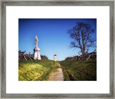 Bloody Lane - Antietam Battlefield Framed Print by Mountain Dreams