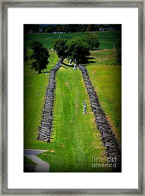 Bloody Lane Antietam Framed Print by Patti Whitten