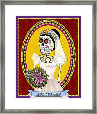 Bloody Married Framed Print by Tammy Wetzel
