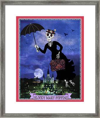 Bloody Mary Poppins Framed Print by Tammy Wetzel