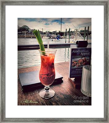 Bloody Mary With A View Framed Print