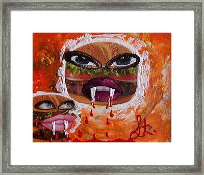 Bloody Meat Framed Print by Lisa Piper