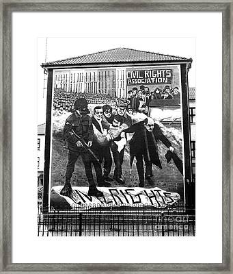 Bloody Sunday Mural B/w Framed Print