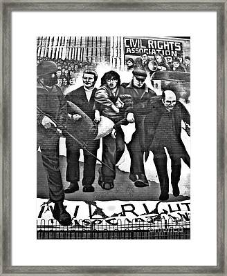 Bloody Sunday Original Mural  Framed Print