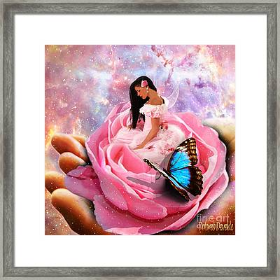 Bloom In The Hand Of The Father Framed Print by Dolores Develde