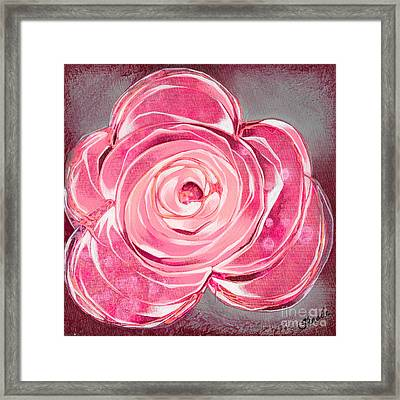 Bloom V Framed Print by Shadia Derbyshire