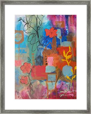 Bloom Where You Are Framed Print by Robin Maria Pedrero