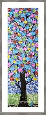 Bloomin Hearts Framed Print