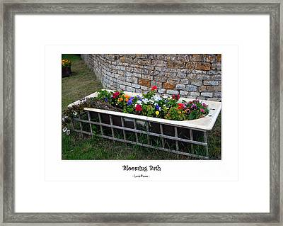 Blooming Bath Framed Print