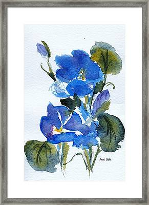 Framed Print featuring the painting Blooming Blue by Anne Duke