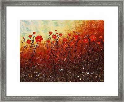 Blooming Flowers Framed Print