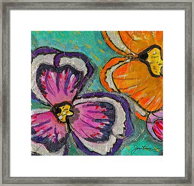 Blooming Flowers Framed Print by Joan Reese