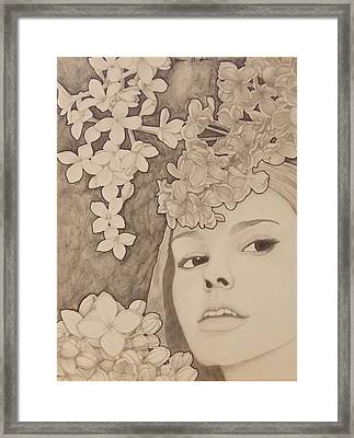 Blooming Girl Lilac  Refined Framed Print