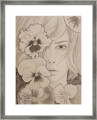 Blooming Girl Pansy Refined Framed Print