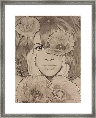 Blooming Girl Poppy Refined Framed Print