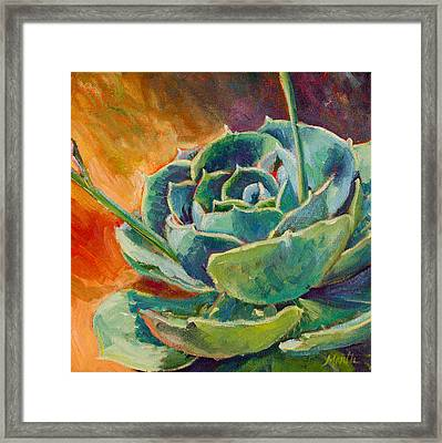 Blooming Hen Framed Print by Athena Mantle
