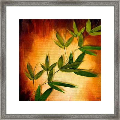Blooming Leaves Framed Print by Lourry Legarde