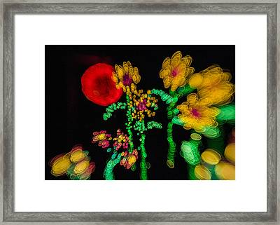 Blooming Lights Are Such A Blur Framed Print