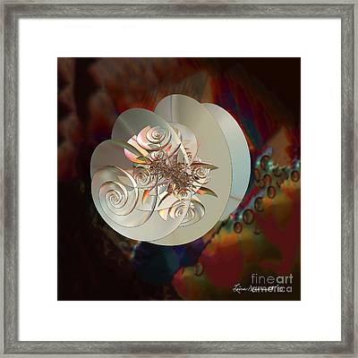 Blooming Spiral Framed Print by Leona Arsenault