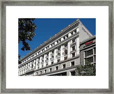Framed Print featuring the photograph Bloomingdale's - San Francisco Vintage Architecture by Connie Fox