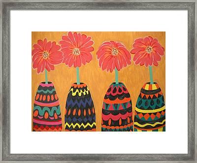 Blooms In Native Dress Framed Print