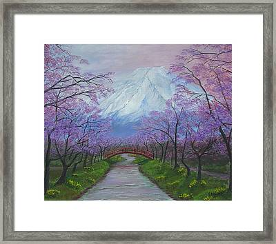 Blooms Of Fuji  Framed Print