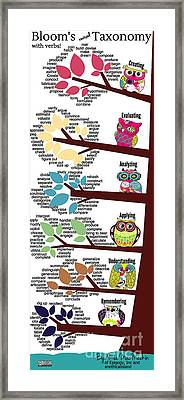 Bloom's Taxonomy With Verbs Framed Print