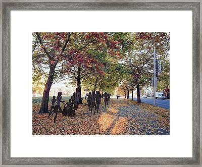 Bloomsday Autumn Finish - Spokane Washington Framed Print