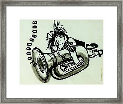 Blooooob! Ink On Paper Framed Print by Brenda Brin Booker