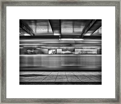 Framed Print featuring the photograph Bloor by Brian Carson