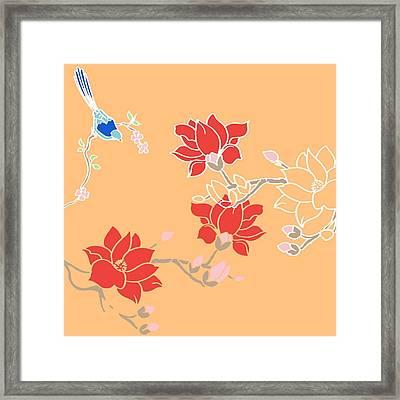 Blossom Birds Framed Print