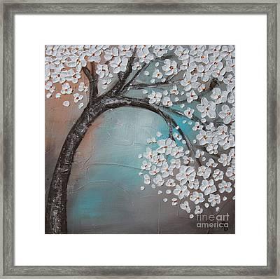 Blossom Cherry Framed Print by Home Art