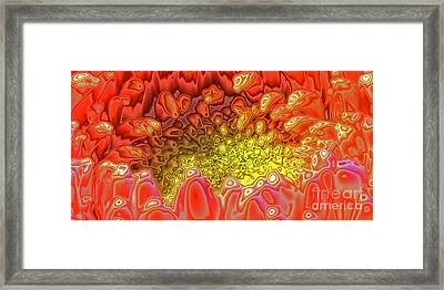 Framed Print featuring the digital art Blossom Digital Workout 1 by Rudi Prott