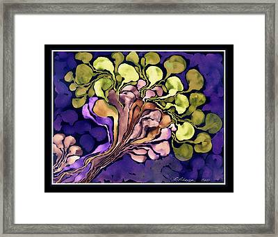 Blossom Of Spring    Purple Framed Print by Cathy Peterson