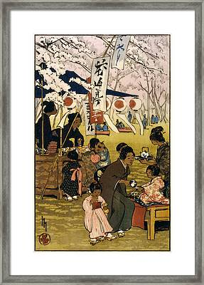 Blossom Time In Tokyo Framed Print by Georgia Fowler