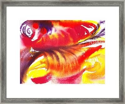 Blossoming Flames Abstract  Framed Print by Irina Sztukowski