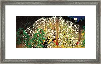 Blossoming Nihonga  Framed Print by Pg Reproductions