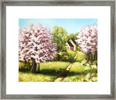 Blossoming Orchard Framed Print