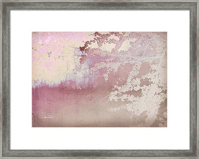 Blossoming Red Bud In Pink  Framed Print by Ann Powell