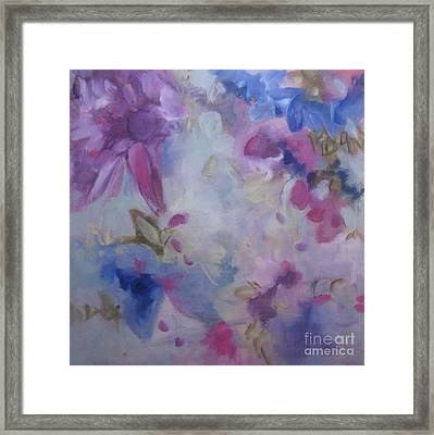 Blossoming V Framed Print
