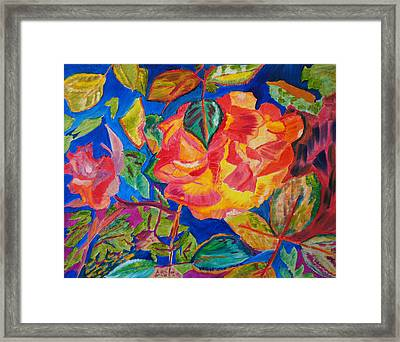 Framed Print featuring the painting Blossoms Aglow by Meryl Goudey