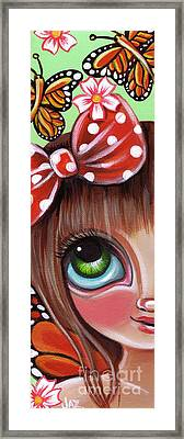 Blossoms And Butterflies Framed Print by Jaz Higgins